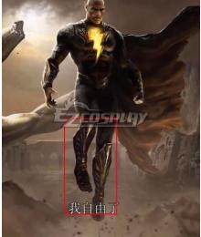 DC 2021 Movei Black Adam Teth Theo-Adam Golden Shoes Cosplay Boots