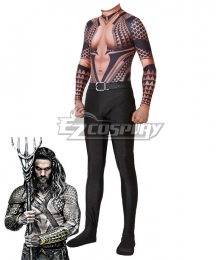 DC Aquaman 2018 Movie Arthur Curry Jumpsuit Cosplay Costume