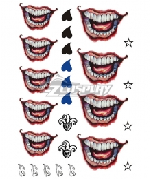 DC Batman Suicide Squad Joker Tattoo Sticker Cosplay Accessory Prop