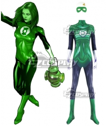 DC Comic Green Lantern Female Super Hero Cosplay Costume