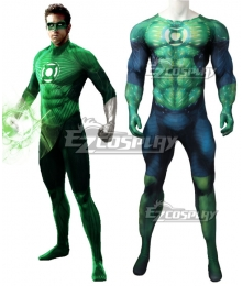 DC Comics Green Lantern Muscle Jumpsuit Zentai Cosplay Costume