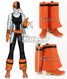 DC Comics Ravager Rose Wilson Orange Shoes Cosplay Boots