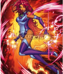 DC Comics Teen Titans Srarfire Cosplay Costume