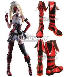 DC Comics Variant Play Arts Kai Designed By Tetsuya Nomura Harley Quinn Black Red Shoes Cosplay Boots