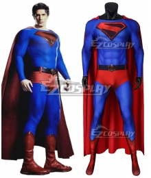 DC Crisis on Infinite Earths Superman Kal-El Zentai Jumpsuit Cosplay Costume