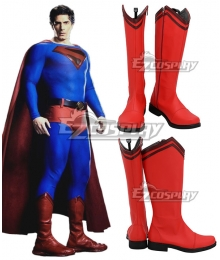 DC Crisis on Infinite Earths Superman Red Shoes Cosplay Boots