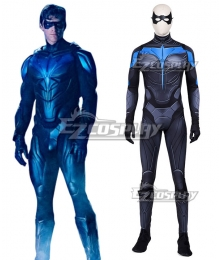 DC Titans season 2 Nightwing Zentai Jumpsuit Cosplay Costume