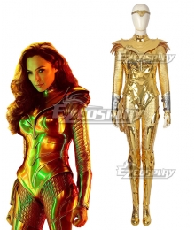 DC Wonder Woman 1984 Diana Prince Golden Cosplay Costume