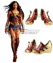 DC Wonder Woman 2 1984 Diana Prince Red Cosplay Shoes