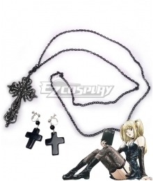 Death Note Misa Amane Punk Gothic Halloween Cosplay Accessory Prop