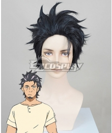 Deca-Dence Kaburagi Black Cosplay Wig