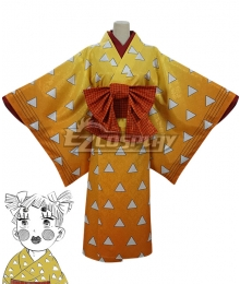 Demon Slayer: Kimetsu No Yaiba Agatsuma Zenitsu Golden Cosplay Costume