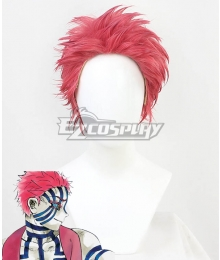 Demon Slayer: Kimetsu No Yaiba Akaza Komaji Red Cosplay Wig
