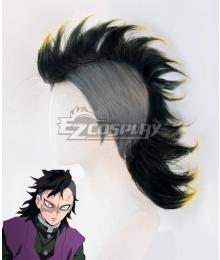 Demon Slayer: Kimetsu No Yaiba Genya Shinazugawa Black Cosplay Wig