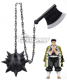 Demon Slayer: Kimetsu No Yaiba Gyomei Himejima Ax Cosplay Weapon