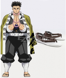 Demon Slayer: Kimetsu No Yaiba Gyomei Himejima Grey Cosplay Shoes