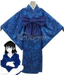 Demon Slayer: Kimetsu No Yaiba Inosuke Hashibira Blue Kimono Cosplay Costume