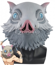 Demon Slayer: Kimetsu No Yaiba Inosuke Hashibira the Boar Head Mask Cosplay Accessory Prop - B Edition