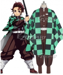 Demon Slayer: Kimetsu No Yaiba Tanjirou Kamado Animation Cosplay Costume