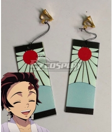 Demon Slayer: Kimetsu No Yaiba Kamado Tanjirou Earring Cosplay Accessory Prop