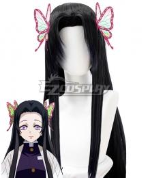 Demon Slayer: Kimetsu No Yaiba Kanae Kocho Black Cosplay Wig - Only Wig