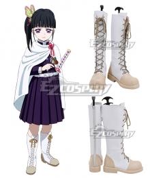 Demon Slayer: Kimetsu No Yaiba Kanao Tsuyuri White Shoes Cosplay Boots