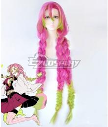 Demon Slayer: Kimetsu No Yaiba Kanroji Mitsuri Pink Green Cosplay Wig
