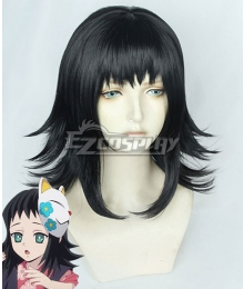 Demon Slayer: Kimetsu no Yaiba Makomo Black Cosplay Wig