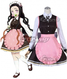 Demon Slayer: Kimetsu No Yaiba Nezuko Kamado Kimetsu Cafe Coffee Cosplay Costume