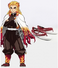 Demon Slayer: Kimetsu No Yaiba Rengoku Kyoujurou Red Shoes Cosplay Boots