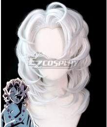 Demon Slayer: Kimetsu No Yaiba Rui Silver Cosplay Wig