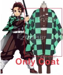 Demon Slayer: Kimetsu No Yaiba Tanjirou Kamado Animation Cosplay Costume - Only Coat
