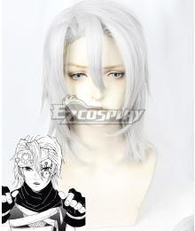 Demon Slayer: Kimetsu No Yaiba Tengen Uzui Long Sliver White Cosplay Wig