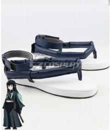 Demon Slayer: Kimetsu no Yaiba Tokitou Muichirou Muichiro Tokito Blue Cosplay Shoes