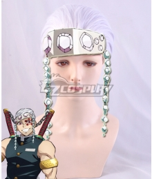 Demon Slayer: Kimetsu No Yaiba Tengen Uzui White Cosplay Wig