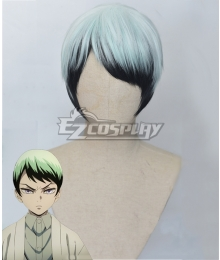 Demon Slayer: Kimetsu No Yaiba Yushirou Green Black Cosplay Wig