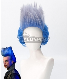 Descendants 3 Hades Halloween Blue Cosplay Wig