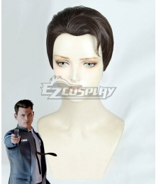 Detroit: Become Human Connor Black Brown Cosplay Wig