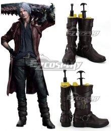 Devil May Cry 5 Dante Brown Shoes Cosplay Boots