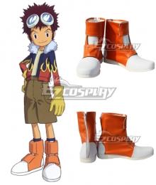 Digimon Adventure 2 Motomiya Daisuke Orange Cosplay Shoes