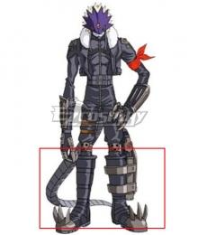 Digimon Adventure 3 Beelzemon Black Shoes Cosplay Boots