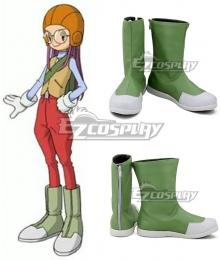 Digimon Adventure  Inoue Miyako Green Cosplay Shoes