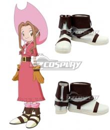 Digimon Adventure  Mimi Tachikawa White Cosplay Shoes