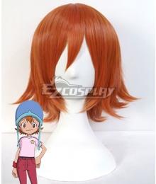 Digimon Adventure Sora Takenouch Orange Cosplay Wig