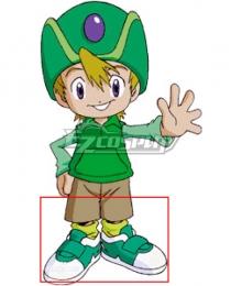 Digimon Adventure  Takeru Takaishi Green Cosplay Shoes