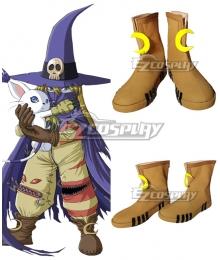Digimon Adventure Wizarmon Brown Cosplay Shoes