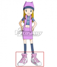 Digimon Frontier Zoe Orimoto Pink Cosplay Shoes