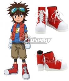 Digimon Xros Wars Taiki Kudou White Cosplay Shoes