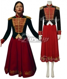 Disney 2018 Movie The Nutcracker And The Four Realms Clara Uniform Cosplay Costume - A Edition
