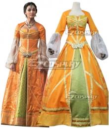 Disney 2019 Movie Aladdin Princess Jasmine Orange Dress Cosplay Costume